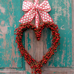 Marvelous Red Heart Wreath