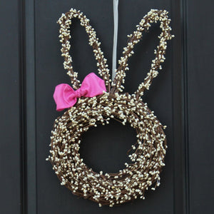 Easter Bunny Head Wreath