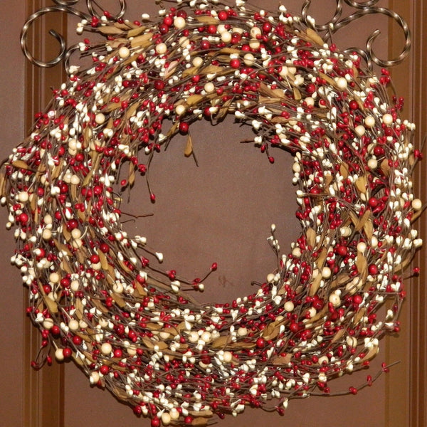 Christmas Wreath - Xmas Wreath - Berry Wreath - Red Wreath