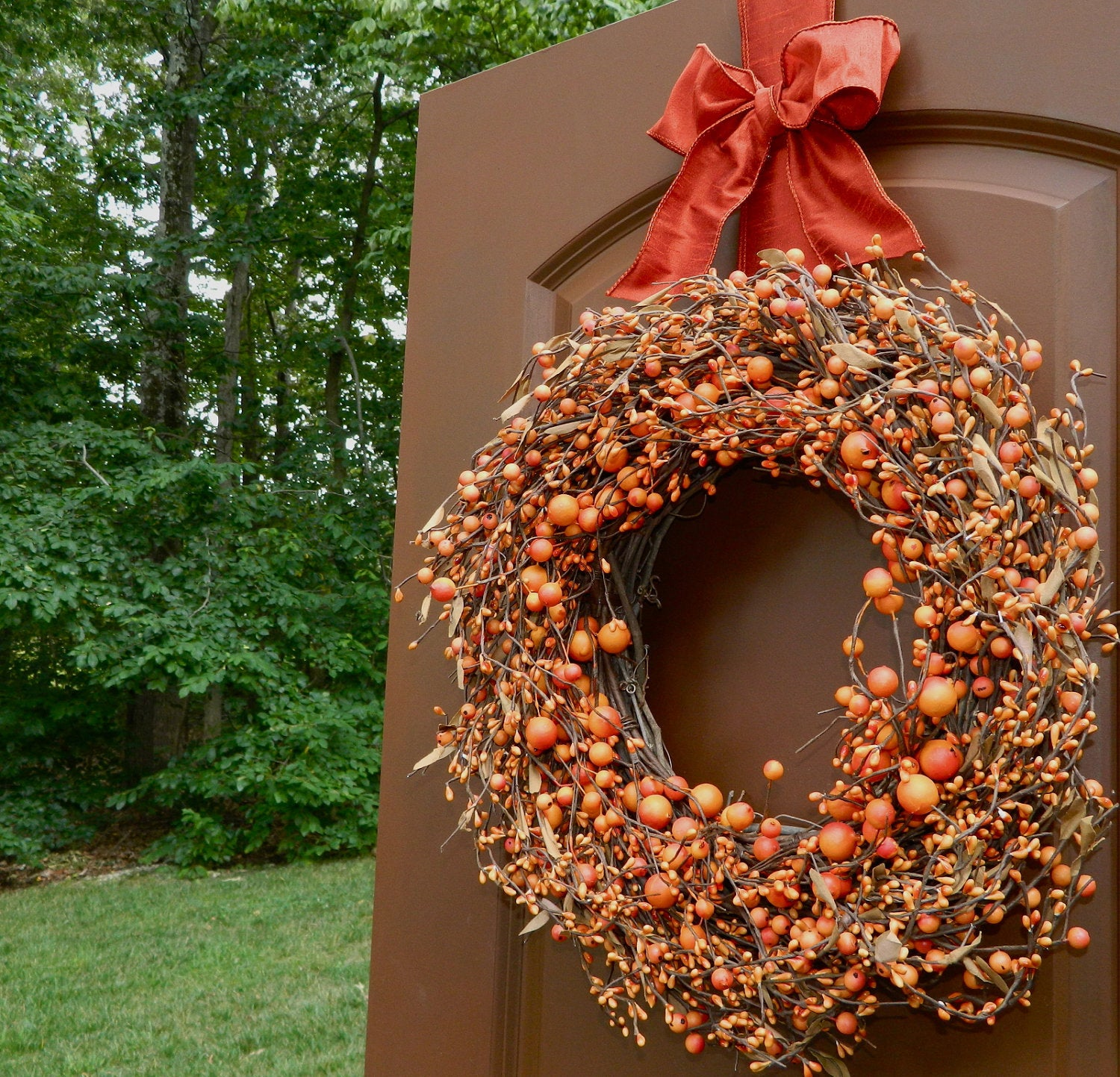 Door Wreath - Fall Wreath - Summer Wreath - Wreath Hanger Included