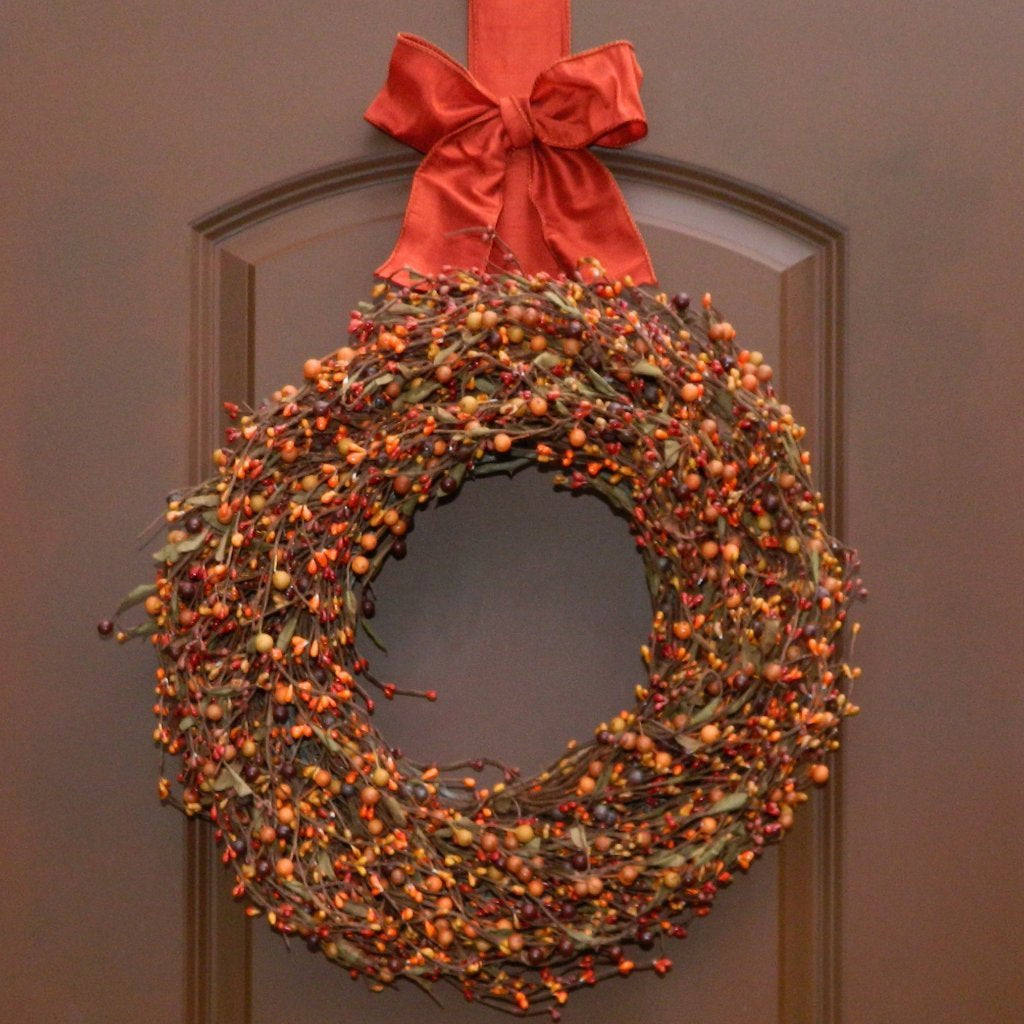 Door Wreath - Wreath Hanger Included - Fall Wreath