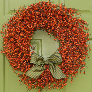 Orange Pip Berry Wreath