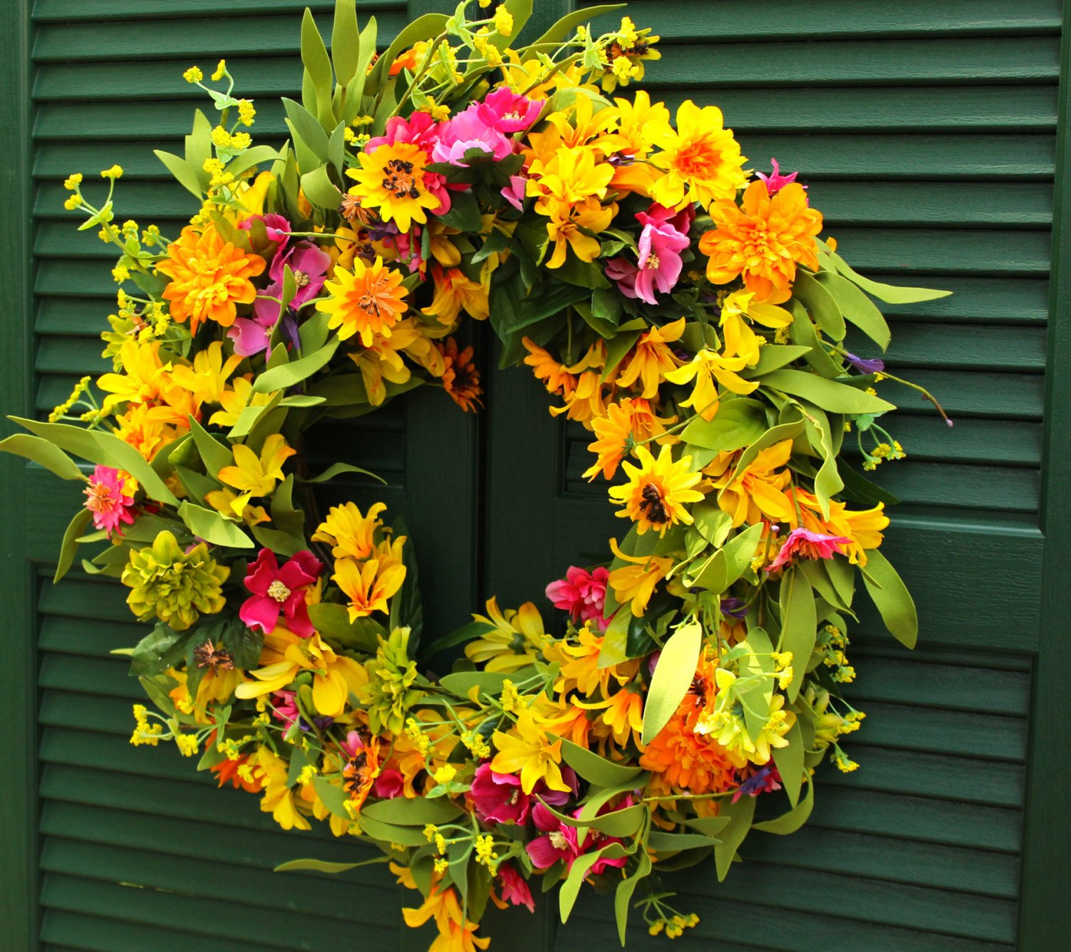 Floral Summer Door Wreath - Flower Wreath
