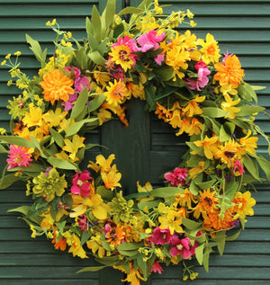 Floral Chrysanthemum Summer Wreath