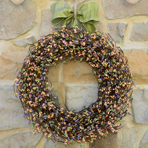 Mixed Spring Pip Berry Wreath