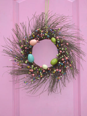 Primitive Easter Egg Wreath