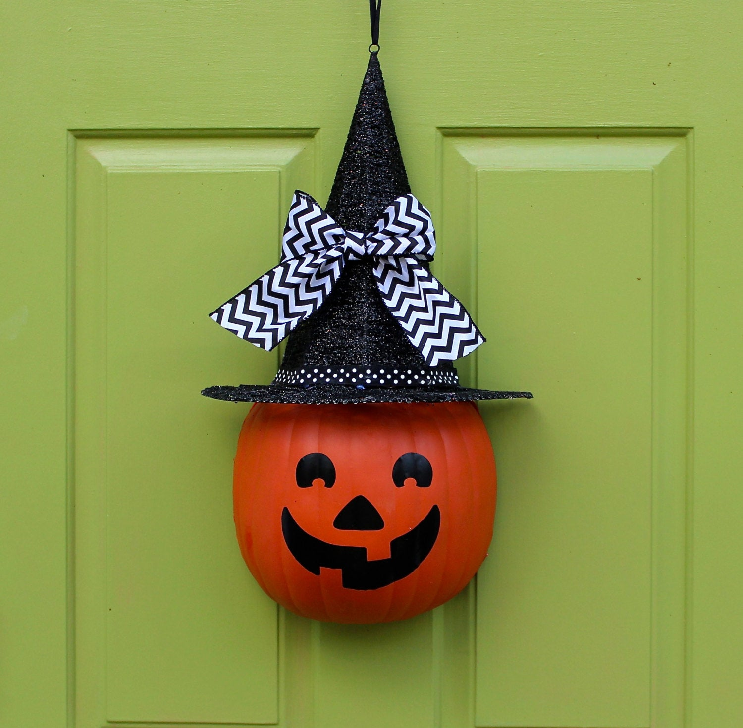 Halloween Wreath - Halloween Decor - Halloween Door Wreath - Jack-O'-Lantern Decor