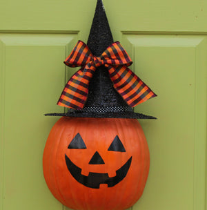 Halloween Jack-O'-Lantern Wreath Alternative