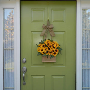 Burlap Sunflower Door Hanger