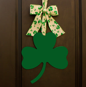 St. Patrick's Day Shamrock Door Hanger