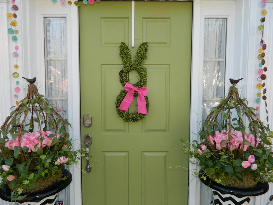 Moss Easter Bunny Wreath