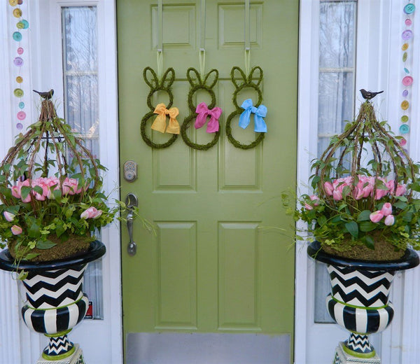 Moss Bunny Wreath - Mini Small Easter Bunny Wreath