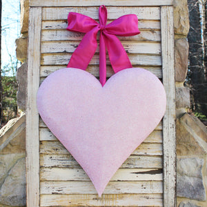 Glitter Heart Door Hanger