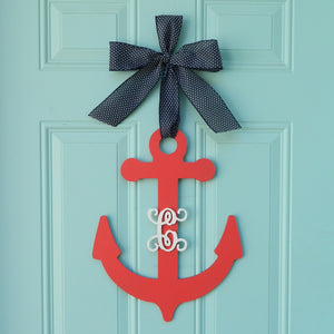 Anchor Monogram Wreath Alternative