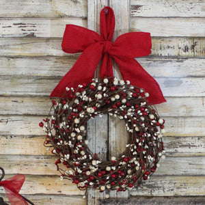 Mini Berry Wreath with Bow