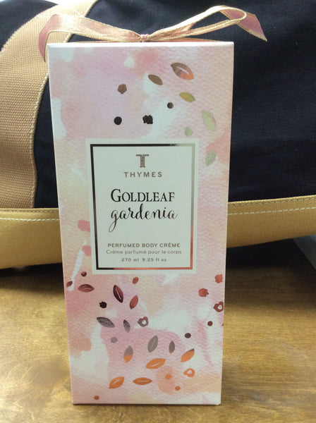 Goldleaf Gardenia Perfumed Body Creme 270ml by Thymes