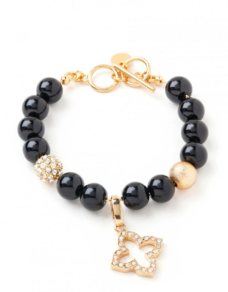 Beaded Bracelet 10mm Black