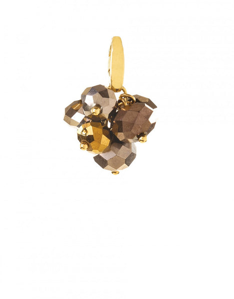 Beaded Cluster Charm Bronze Metallic
