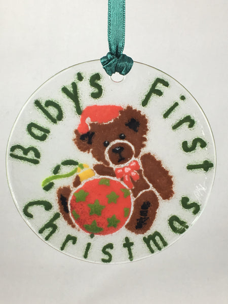 Peggy Karr Glass Baby's First Christmas Ornament