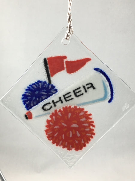 Peggy Karr Glass Cheer Ornament