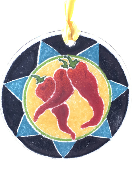 Peggy Karr Glass Chilies Ornament
