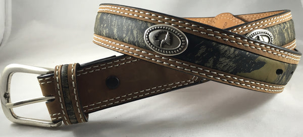 Mossy Oak Camo Leather Belt