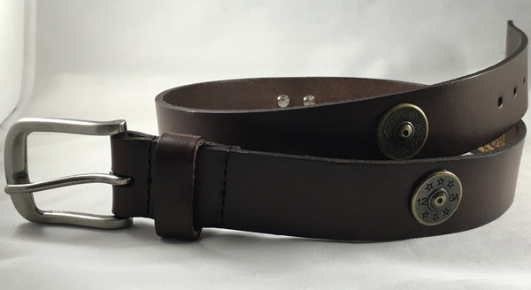 12 Gauge Leather Belt