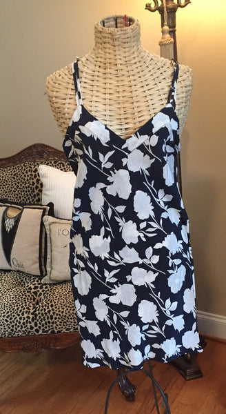 Linda Hartman Intimates Navy Patterned Chemise