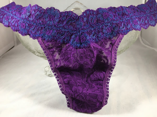 Crossed Dyed Lowrise Thong