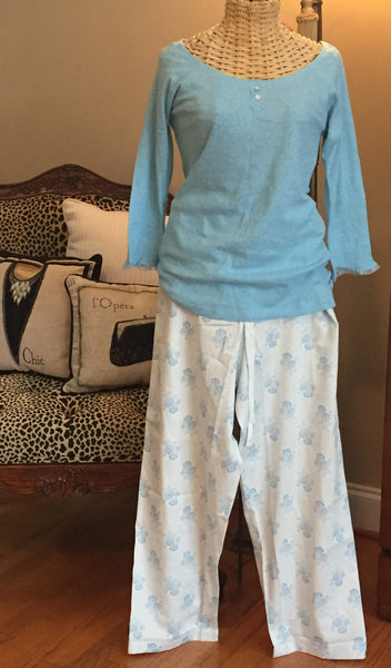 Crabtree & Evelyn 2 Piece Pajama Set