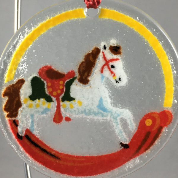 Peggy Karr Glass Rocking Horse Ornament