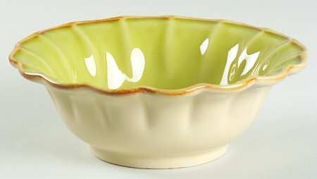 Autumn Waves Fruit Bowl In Celery And Cream