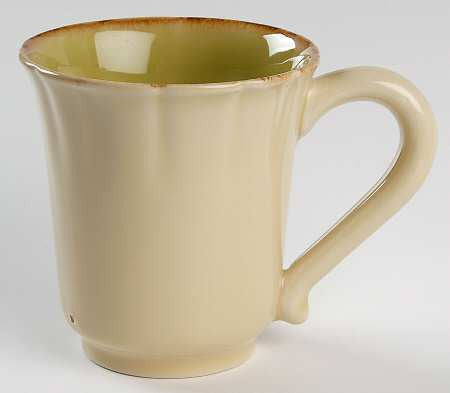 Autumn Waves Coffee Mug In Celery And Cream