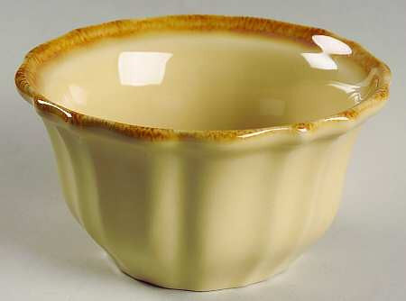 Autumn Waves Ramekin In Oatmeal And Cream