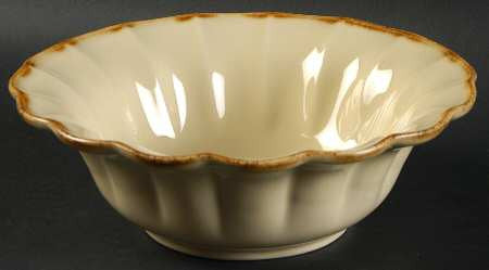 Autumn Waves Soup/ Cereal Bowl In Oatmeal And Cream
