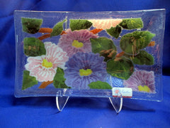 Peggy Karr Handcrafted Art Glass Floral Branch