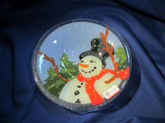 Peggy Karr Handcrafted Art Glass Happy Snowman