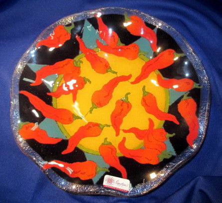 Peggy Karr Handcrafted Art Glass (fluted) Chilies