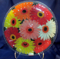 Peggy Karr Handcrafted Art Glass Gerbera Daisy