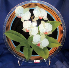 Peggy Karr Handcrafted Art Glass Orchid