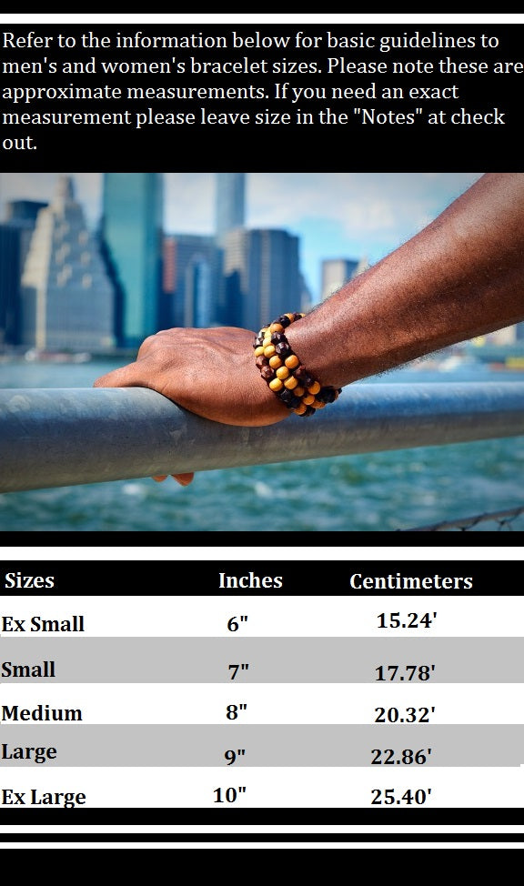 Men and Women bracelet size chart