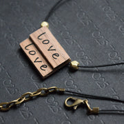 Word necklace - Natural Earrings