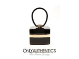 Chanel Black Lucite and Gold Devil Wears Prada Bag
