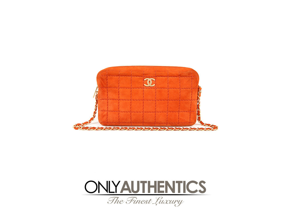 Chanel Orange Suede Camera Bag