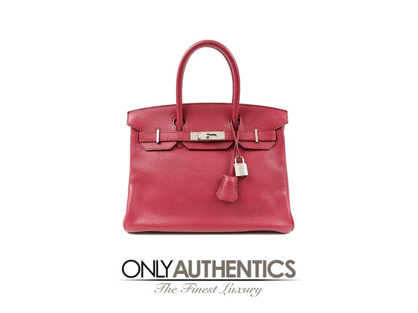 Ruby Red Togo 30 cm Birkin Bag PHW