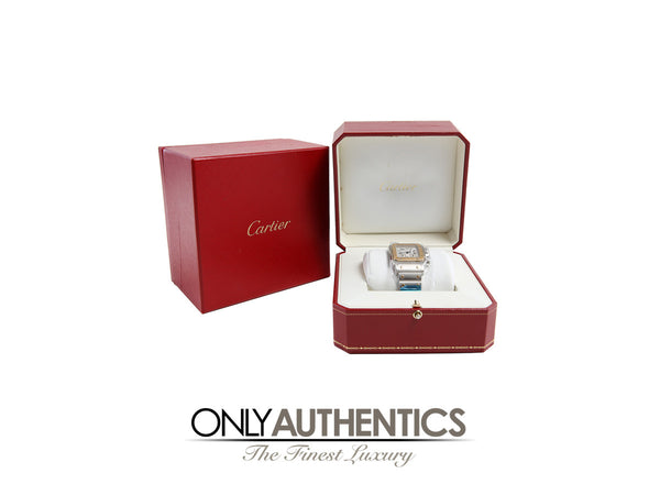 Cartier Santos Two Tone Chronograph Watch