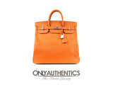 Hermès Orange Epsom Leather 40 cm HAC Birkin Bag