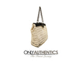 Chanel Beige Crocheted Tote