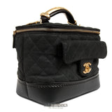 Chanel Black Caviar Leather Globetrotter Bag