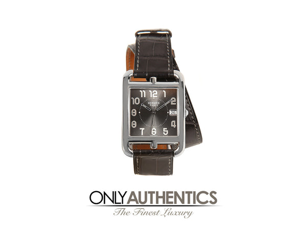 Hermès Cape Cod Watch with Grey Alligator Double Tour Band